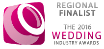Regional Finalist - 2016 Wedding Industry Awards